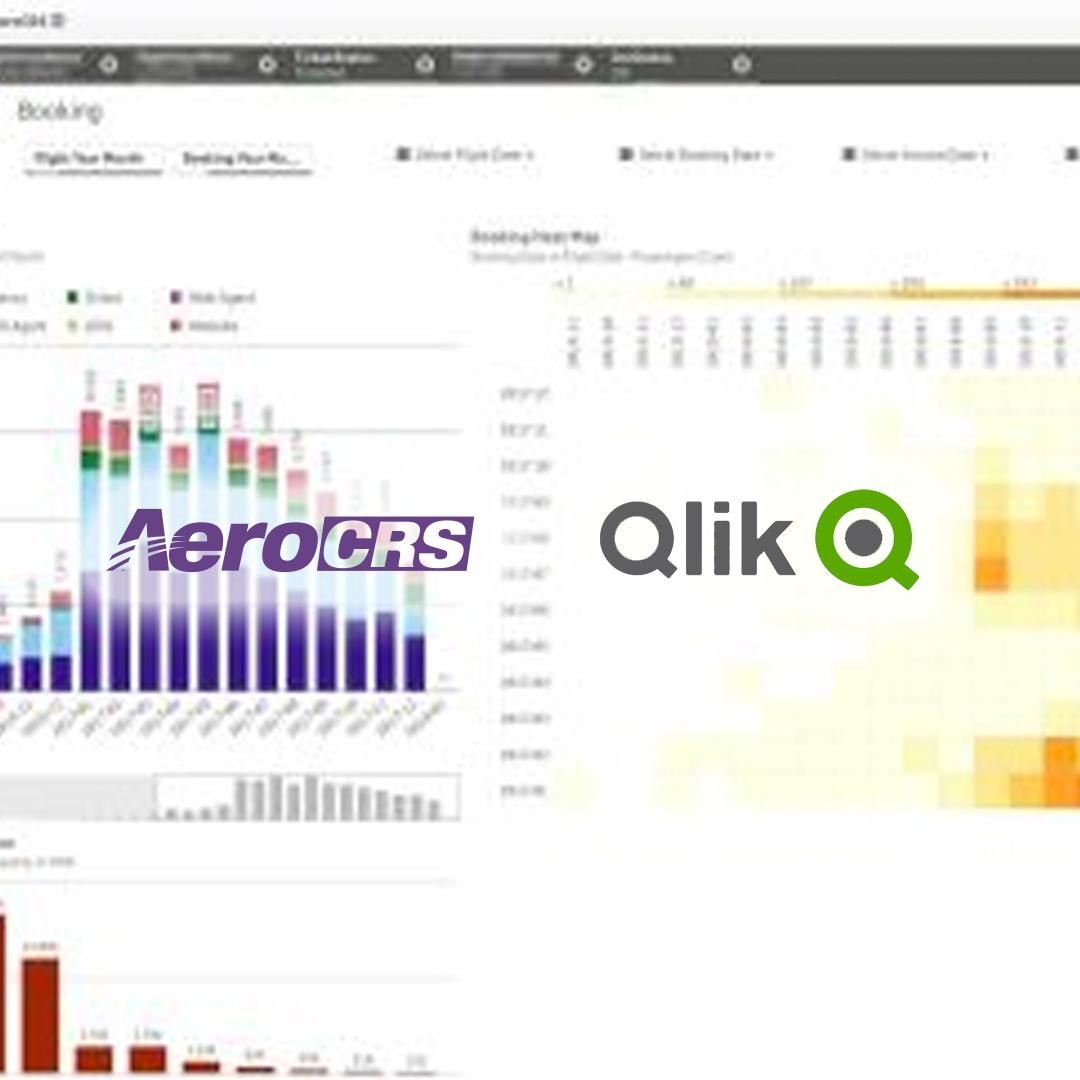 AeroCRS and Qlik logo