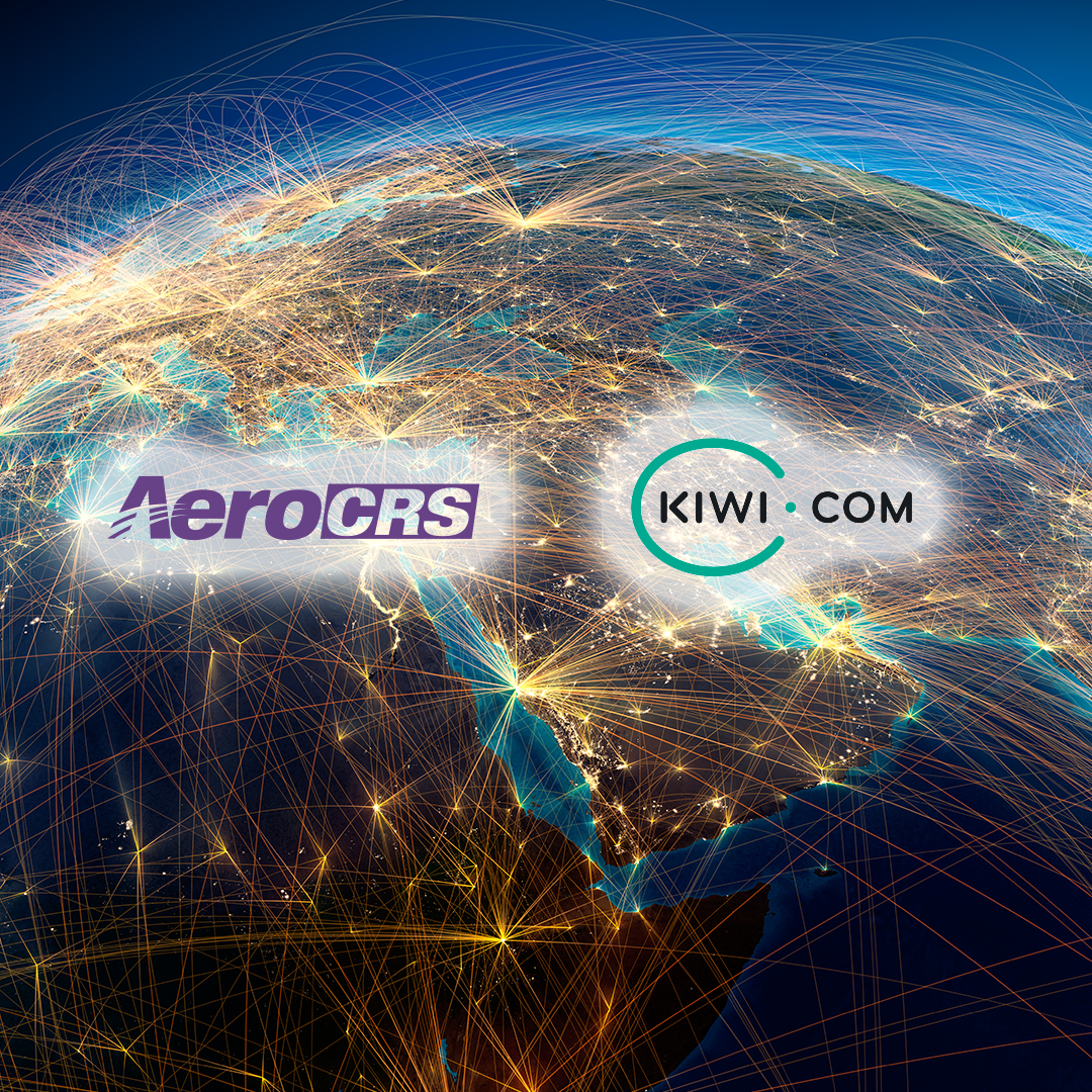 kiwi and aerocrs logos over world connections map