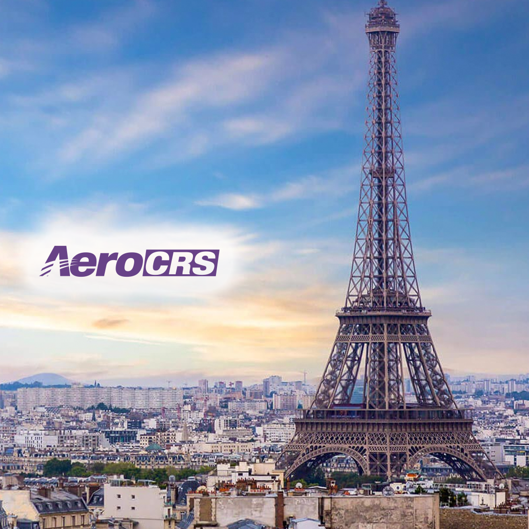 Paris overview with AeroCRS logo