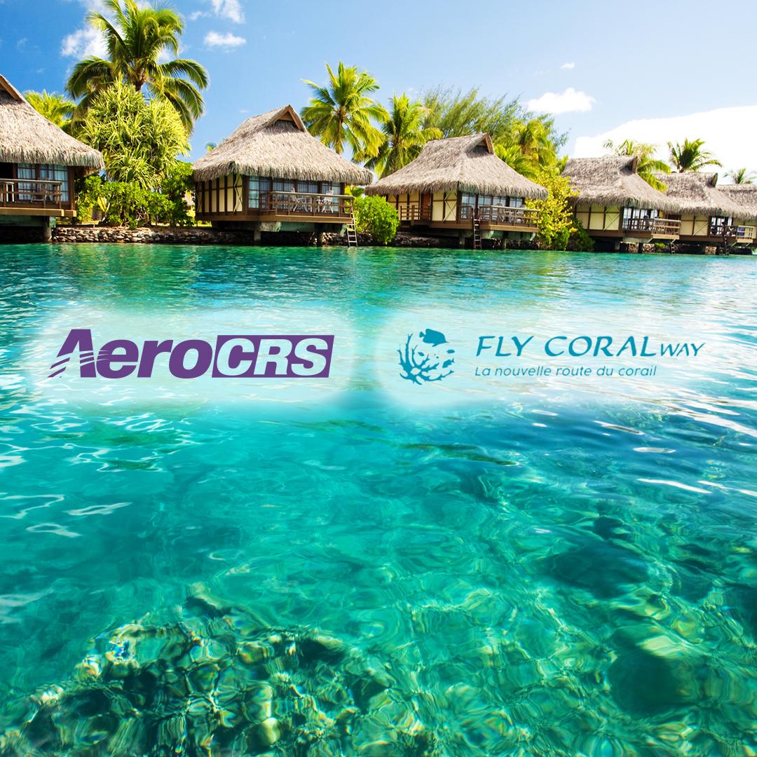 aerocrs-flycoralway logos over water resort