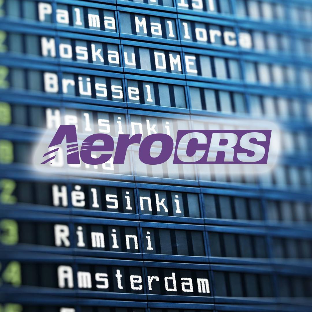 AeroCRS Logo over timetable